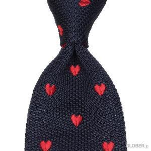 タイ・ユア・タイ Tie Your Tie ニットタイ ハート ネイビー・レッド|hff