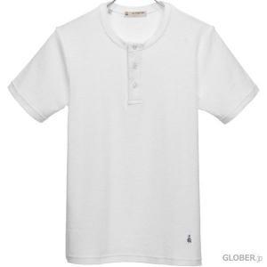 ギ・ローバー Guy Rover ヘンリーネックTシャツ パイル 1 ホワイト|hff