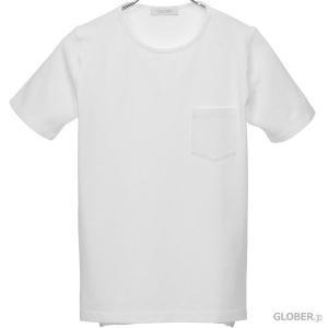 クルチアーニ/Cruciani:ラウンドネックTシャツ 鹿の子 ホワイト|hff