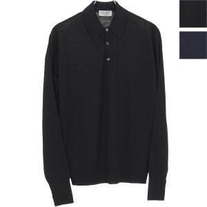 ジョンスメドレー/John Smedley:ニットポロシャツ Dorset ロングスリーブ ウール【セール・返品交換不可】|hff