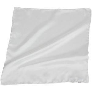 フランコ・バッシ Franco Bassi ポケットチーフ ツイルサテン 無地 ホワイト|hff