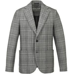 チルコロ1901 シングルジャケット グレンチェック ジャージー カシミアタッチ 0204-2846MP Circolo1901|hff