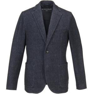 チルコロ1901 シングルジャケット デニム調 ジャージー カシミアタッチ 0204-281115 Circolo1901|hff