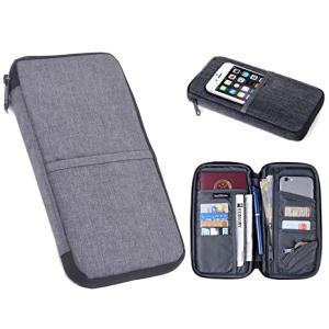 パスポートケース スキミング防止スリーブ2枚付き パスポートバッグ 通帳ケース 海外旅行 軽量 防水...