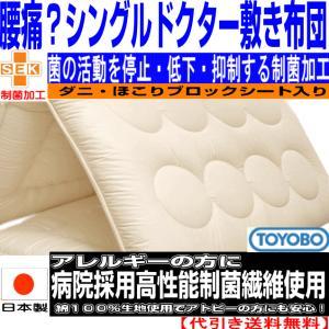 布団 腰痛 腰やさしい アレルギー対策に シングル敷布団NANOウォシュα疲労回復バランス硬質 敷き布団 シングルサイズの写真