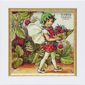 フラワーフェアリーズ ミニゲル アートフレーム 「ストロベリー」  妖精 ボタニカル イギリス 雑貨 |hgpkaruizawa