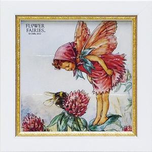 フラワーフェアリーズ ミニゲル アートフレーム 「レッドクローバー」  妖精 ボタニカル イギリス 雑貨 |hgpkaruizawa