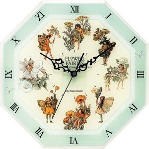 フラワーフェアリーズ 8アングル クロック <グリーン> 妖精 ボタニカル イギリス 時計 |hgpkaruizawa
