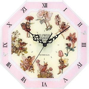 フラワーフェアリーズ 8アングル クロック <ピンク> 妖精 ボタニカル イギリス 時計 |hgpkaruizawa