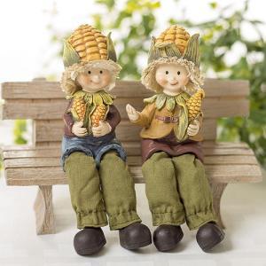 おすわり妖精 とうもろこし  (2個組)  妖精 フェアリー ガーデニング ガーデン インテリア 小人 hgpkaruizawa