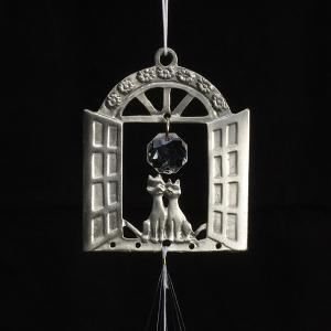 ウィンドチャイム 窓のネコ 妖精 フェアリー 風水 ねこ 猫 風鈴 幸運 癒し  hgpkaruizawa