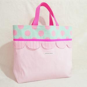 帆布とスカラップのトートバッグ(受注制作) |hi-inari