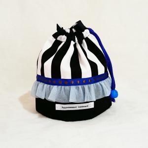 DM便送料無料 モノクロとブルーのコップ袋(受注制作)|hi-inari