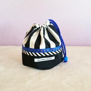 DM便送料無料 モノクロのblueなコップ袋(受注制作)|hi-inari
