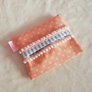 オレンジと水色のポケットティッシュケース クロネコDM便送料無料 hi-inari
