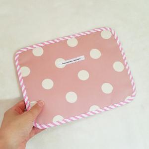 クロネコDM便送料無料 カードが素早く取り出せるカード型ポーチ pink×dot|hi-inari