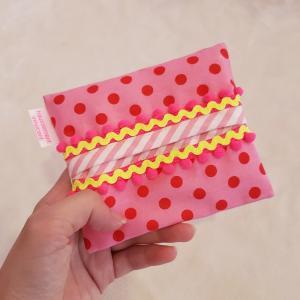 ポケット付きのポケットティッシュケース pop pink クロネコDM便送料無料 hi-inari
