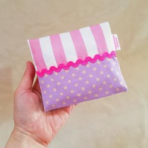 クロネコDM便送料無料 ハンカチに見えるサニタリーケース pink×purple(受注製作) hi-inari