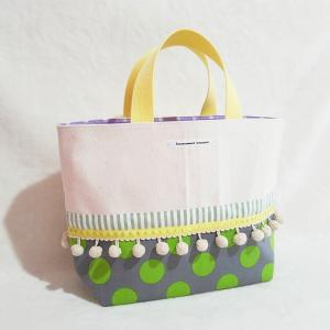 グレイッシュトーンの帆布トートバッグ (受注製作)|hi-inari