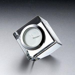 ( グラスワークス / ナルミ ) コフレミニクロック クリア ガラス 時計 クロック 記念品|hi-select