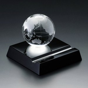 ( グラスワークス / ナルミ ) アース スマートフォンスタンド ガラス 記念品|hi-select