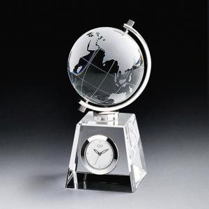 ( グラスワークス / ナルミ ) グローブクロック ガラス 時計 クロック 記念品|hi-select