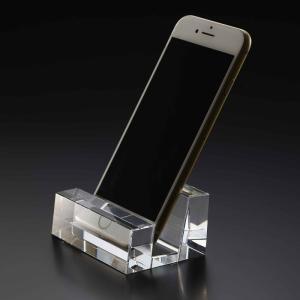 ( グラスワークス / ナルミ ) ブロック スマートフォンスタンド スマートフォンスタンド ガラス|hi-select