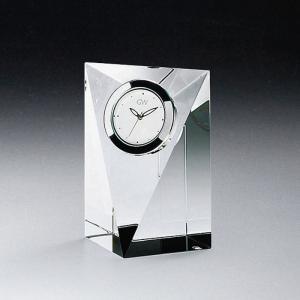 ( グラスワークス / ナルミ ) プリズムクロック S ガラス 時計 クロック 記念品|hi-select