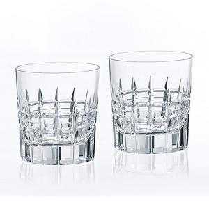 ( カガミクリスタル / ガラス ) ペアロックグラス ( TPS769-2808 ) クリスタル ペアグラス|hi-select