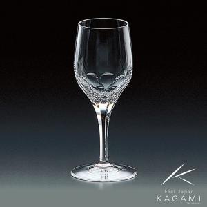 ( カガミクリスタル ) 白ワイングラス ( プレステージライン K9803-F8 ) クリスタル ワイン|hi-select