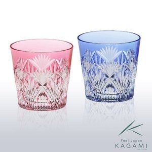 ( カガミクリスタル ) 江戸切子 ペア冷酒杯 切り子 クリスタル ペアグラス|hi-select