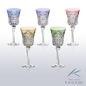 ( カガミクリスタル ) 江戸切子 ワイングラスセット ( KS3602-2835-5 ) 切り子 クリスタル ペアグラス|hi-select