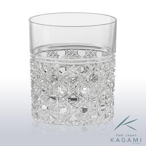 ( カガミクリスタル ) 江戸切子 ダブルウイスキー 八角籠目 紋 ( T483-1 ) 切り子 クリスタル グラス|hi-select