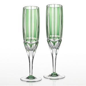 ( カガミクリスタル / ガラス ) 江戸切子 ペアフルートシャンパングラス 竹の膳 ( KPS897-1908-CGR ) クリスタル ペア ワイン|hi-select
