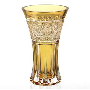 ( カガミクリスタル / ガラス ) 江戸切子 花瓶 ( 篝火 F304-2907-CUM / 伝統工芸士 / 根本達也 )  切り子 クリスタル フラワーベース|hi-select