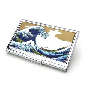 九谷焼 伝統工芸 カードケース 名刺入れ ( 波 ) ビジネス用品 和柄 記念品 プレゼント 男性 女性|hi-select