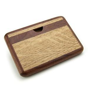 天然木カードケース ツートン ( ナラ / ウォルナット ) プレゼント 誕生日 贈り物 木製 おしゃれ|hi-select