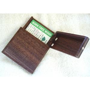 天然木ビジネスカード入れ ( ウォルナット ) プレゼント 誕生日 贈り物 木製 おしゃれ|hi-select