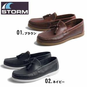 ストーム STORM  4345 タッセルモカシン デッキシューズ レザー 全2色 4345  メンズ 男性用 靴 スエード 天然皮革(1158-0008) hi-style
