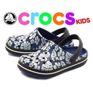 クロックス(CROCS) クロックバンド トロピカルプリント クロッグ キッズ ベビー & キッズ(子供用) 海外正規品(CROCS) (12399225)|hi-style