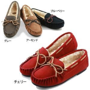MOOI FEMININE  本革レザー モカシン ファーシューズ 全4色 NEW MODEL (1431-0201) hi-style