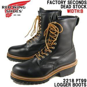 REDWING レッドウィング ブーツ ロガーブーツ 2218-PT99 メンズ 黒/85300060/|hi-style