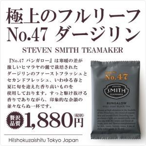 真正面から紅茶と向き合うあなたに!香り高きダージリン STEVEN SMITH TEAMAKER NO.47 バンガロー ティーバッグ 15包入り|hi-syokuzaishitsu