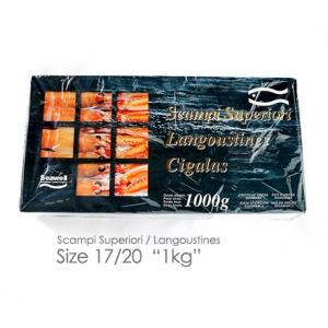 スキャンピー(手長海老/ラングスティーヌ) 1kg箱 デンマーク産 17〜20尾|hi-syokuzaishitsu
