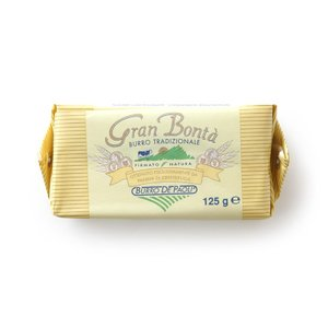 イタリア産 発酵 バター グランボンタ無塩発酵バター! 混じりけのないミルク風味とシルキーな食感。毎日使いたくなる無添加の優しさ。パオリ社 125g|hi-syokuzaishitsu