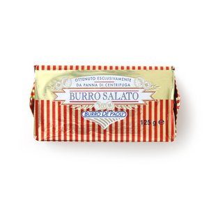 イタリア産 発酵 バター ブーロ・サラート有塩発酵バター! 料理の味わいを高める絶妙な塩加減と豊かなミルク風味とシルキーな食感。パオリ社 125g|hi-syokuzaishitsu