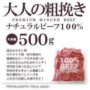 牛肉 ステーキ ビーフ オーシャンビーフ100% ブッチャーズ ミンチ 500g ホルモン剤などを一切使用しないナチュラルミートでハンバーグ|hi-syokuzaishitsu