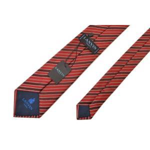 ネクタイ ランバン メンズ LANVIN ストライプ柄シルクネクタイ(サイズ剣幅8cm)elv20s009 2515-1 レッド|hibeauty-store|04