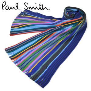 マフラー ポールスミス メンズ Paul Smith マルチストライプ柄 ウール eps17w011...