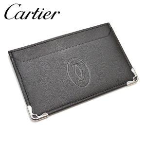 Cartier【カルティエ】定期入れ・パスケース/カードホルダー/マスト ドゥ カルティエ【サイズ/F/】yct001【L3001425:ブラック】【Y22,140-】